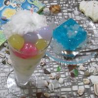 なみの泡パフェ&ソーダーゼリー