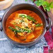 煮るだけ5分♪『豆腐とキムチのコクうま味噌スープ』と『プレスサンドメーカープレゼント企画♡』
