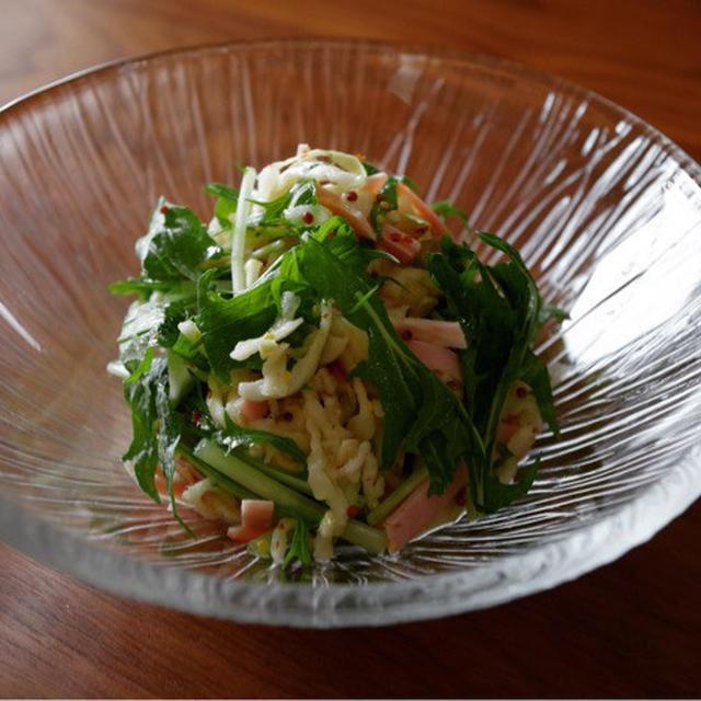 こだまの千切り大根レシピ【千切り大根とハムの洋風マリネ】