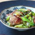 鶏とネギの山椒風味照り炒め