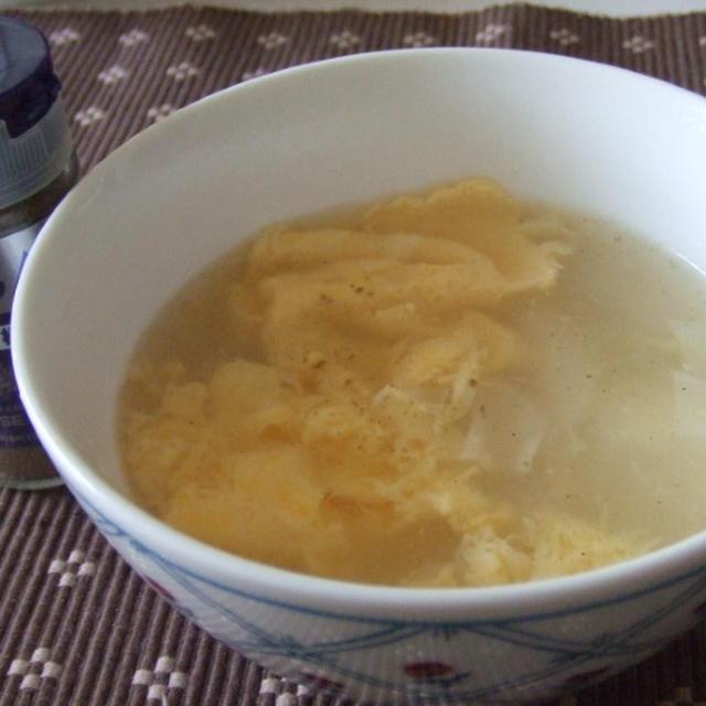 ワンタンの皮とかき玉スープ