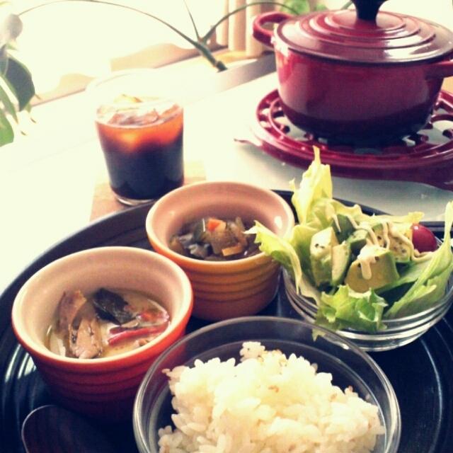 夏野菜のクミン炒め煮&クミンご飯
