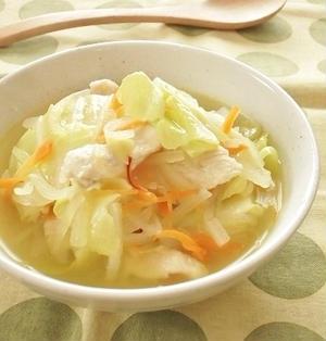 GABANサフランで春色!食べるコンソメスープ
