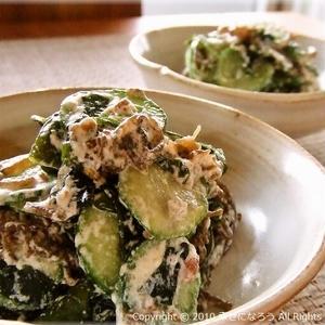 海藻おかずを食卓に♪ちゅるんとおいしい「もずくサラダ」