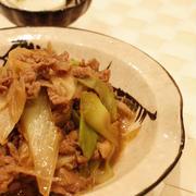 ねぎと牛肉の炒め物