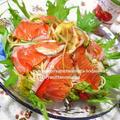 にゃん太ママのレシピがTVに?と、<サーモンの冷製パスタサラダ♪トマトドレッシングで(*^_^*)> by はらぺこ準Jun(はーい♪にゃん太のママ改め)さん