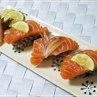 ☆ノルウェーサーモンのおつまみ寿司☆
