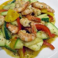 彩野菜とエビソテー