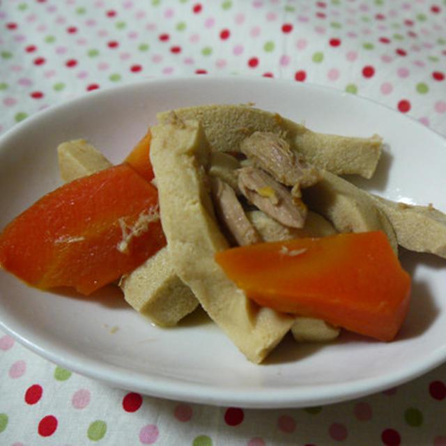 高野豆腐のツナ煮