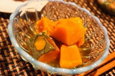 とろっとひんやり、蒸しかぼちゃの冷やしみたらし餡、粘りパワーのイカモロヘイヤ納豆