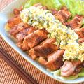 香り最高。濃厚バジルタルタルの絶品きなこ唐揚げステーキ(糖質4.5g) by ねこやましゅんさん