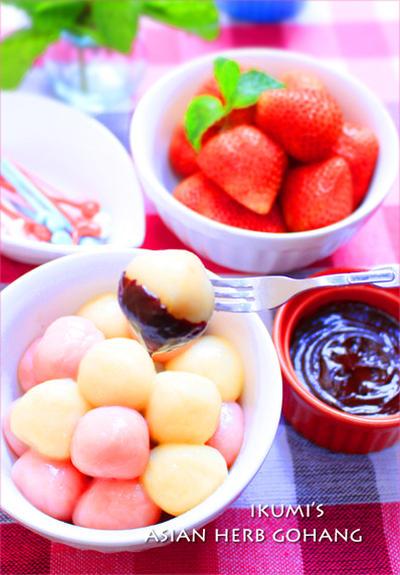 豆腐白たまのチョコレートフォンデュ★Fondue au chocolat✿ Sweet r...