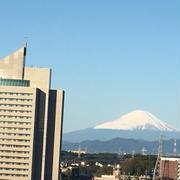 富士山がきれいな朝でした