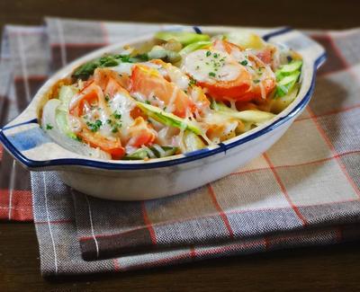 トマトと春野菜のとろ~りチーズ焼き