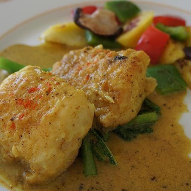 鱈のムニエル カレークリームソース