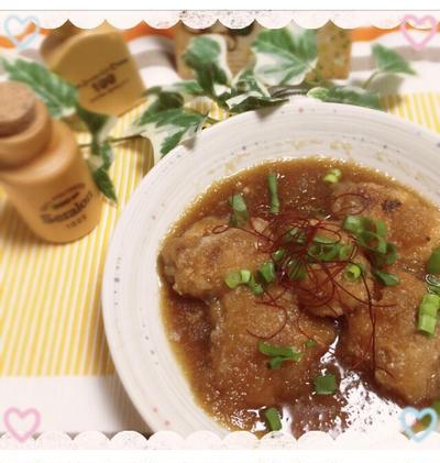 豚コマの麺つゆ煮