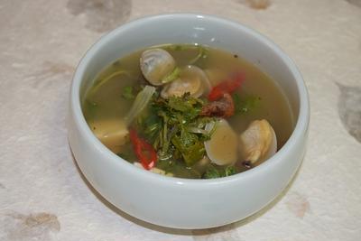 よもぎデンジャンスープ(쑥된장국)レシピ