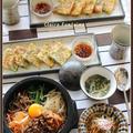 石焼きビビンパ、あさりとニラのチヂミ!で、おうち韓国料理♪
