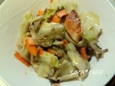 鮭野菜炒め