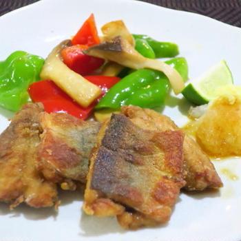 秋刀魚の竜田揚げ ~きのこの炊き込みご飯と