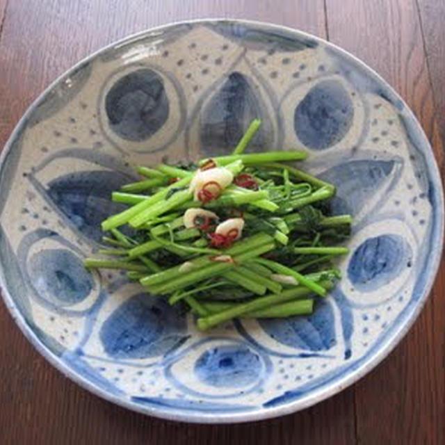 空芯菜の塩炒め