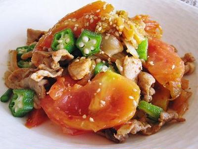 豚肉とトマトのキムチ炒め