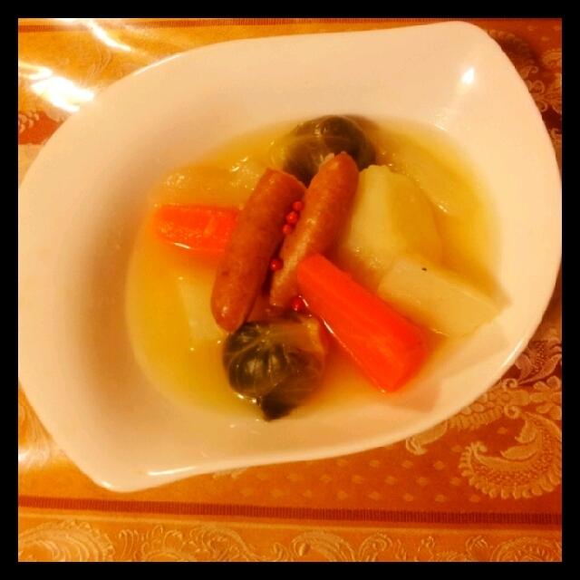 お野菜ゴロゴロ たっぷりポトフ 芽キャベツのお話
