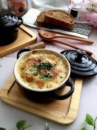 身体の芯から温まる~オニオングラタン風大根スープ