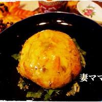 『魚醤』の「旨味あんかけ天津飯」♪ Omlette on Rice