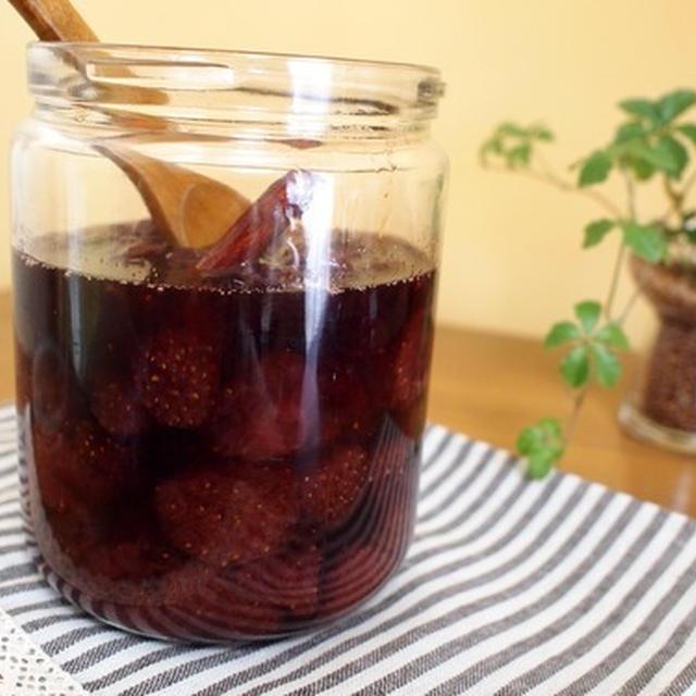 スパイス香る!赤ワインたっぷり苺ジャム(レシピ付)。