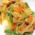 <野菜いっぱいあんかけ豆腐><簡単なのに無限なきゅうりとメンマサラダ>