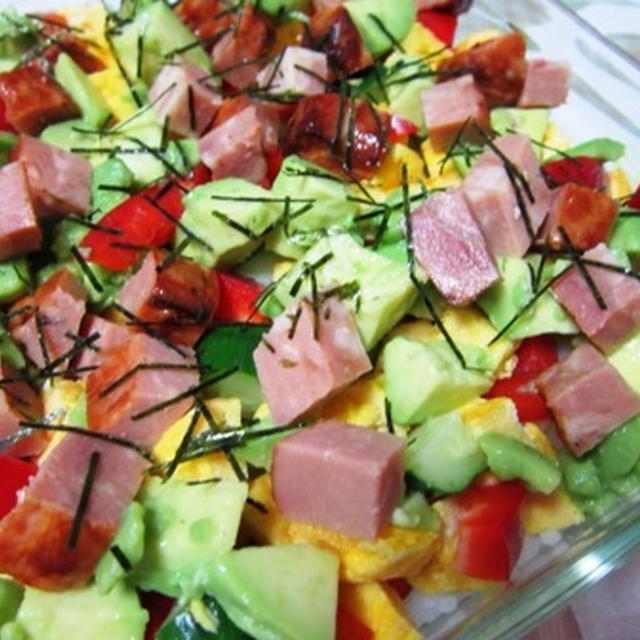 野菜たっぷり 洋風ちらしあられ寿司