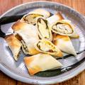 巻いてオーブントースターで作る「鶏ささみ肉の梅しそチーズ春巻き」&「明星 蟹×豚骨 蟹そば」は意外と濃厚でした