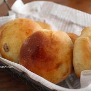 朝ごはん*米粉配合の手作りレーズンパンは・・・お早い就寝の娘とダイエットの難しさ。