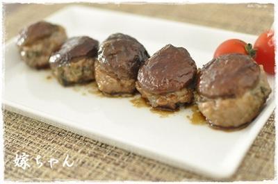 お弁当にもぴったり♪椎茸の肉詰め。照り焼き風味で。