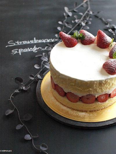 ラストスパート、いちごのショートケーキ。