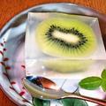 キウイ寒天 ~ 果実をそのまま食べているような寒天デザート♪ by mayumiたんさん