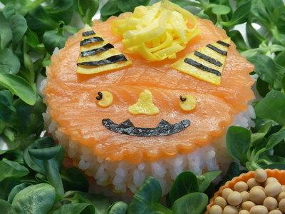 鬼キャラ押し寿司☆寿司屋さんのシャリ♪