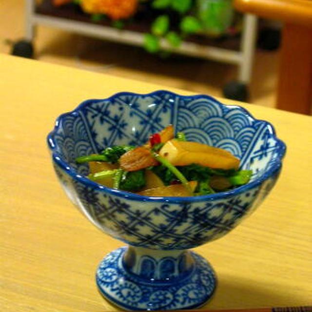 【小さいおかず】ピリ辛蕪の金平。葉は栄養満点