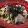 鯖水煮缶と納豆*大根おろしの青じそ風味♪栄養パスタ