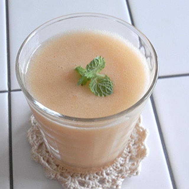 メロン+桃のフレッシュジュース