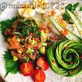 マグロとアボカドのハワイ料理「アヒポキ」
