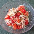カニかまとミニトマトの冷製パスタ