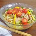 ドレッシング仕立てでさわやか!イカと彩り野菜の冷やし中華