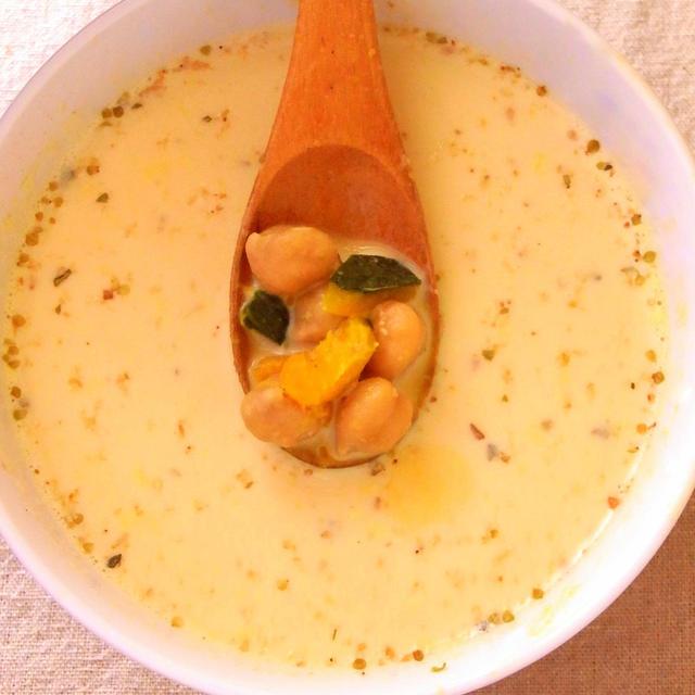 スープのレシピ〜ひよこ豆とかぼちゃの白ごまボタージュスープ〜