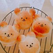 くまちゃんパン(^(エ)^)ずんだ餡サンド♪ハムチーズサンド♪