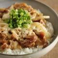 麺つゆとフライパンで簡単♪とろ~りチーズの豚丼