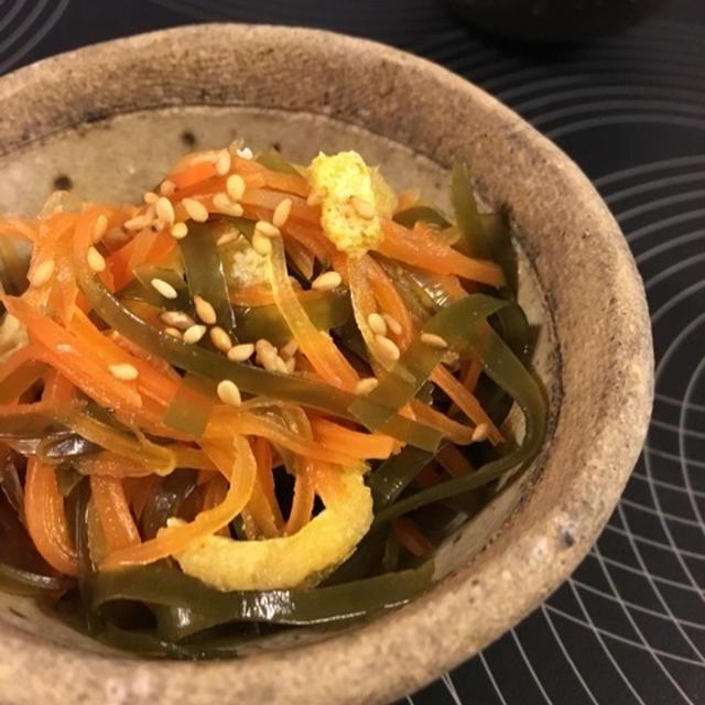 にんじんとすき昆布の煮物