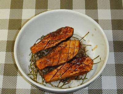 ナスの蒲焼丼