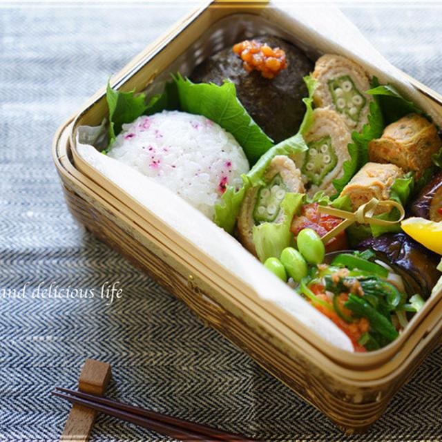 豚肉のオクラと明太ソース巻き